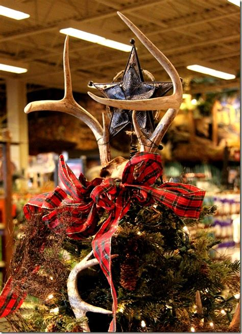 Log Cabin Themed Home Decor because i didn t want you to miss an antler tree topper
