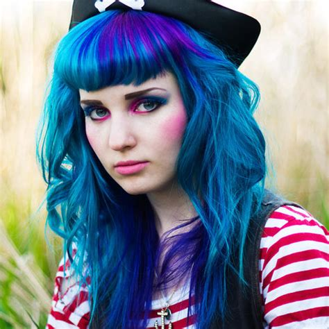 blue hair blue hair with purple accents forums haircrazy