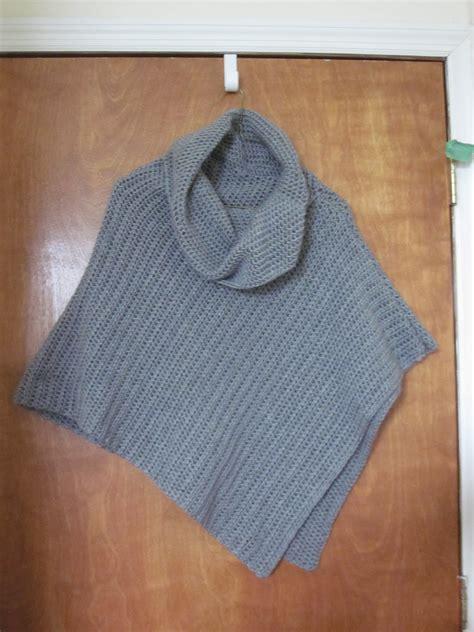 poncho pattern the crafty novice diy crochet poncho
