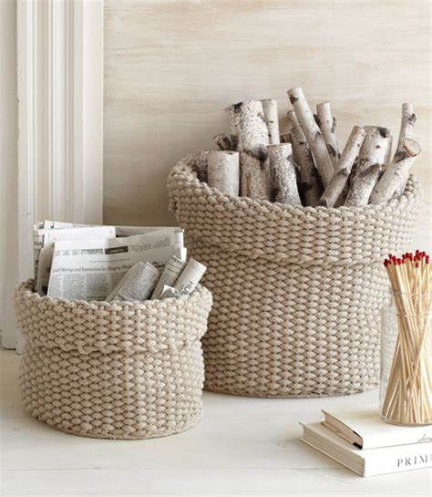 knit home decorative ideas for firewood storage places in the home