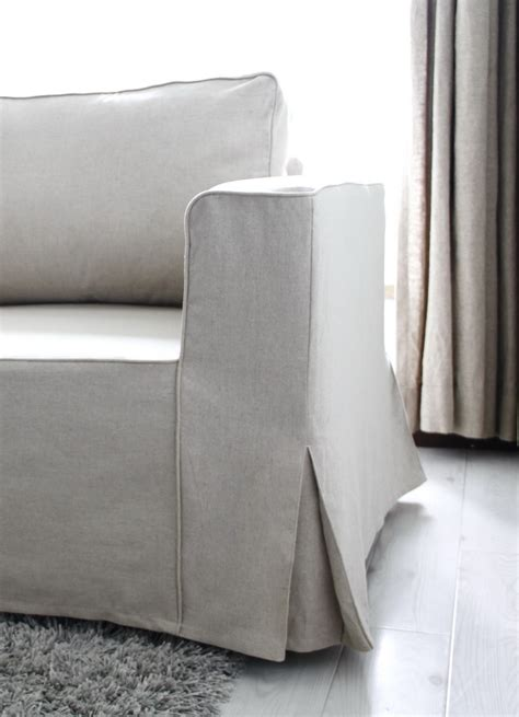 linen sofa slipcovers fit linen manstad sofa slipcovers now available