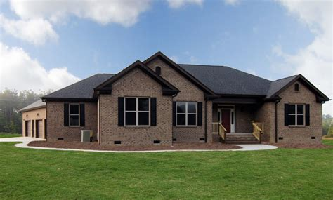 one story homes one story brick homes raleigh transitional exterior