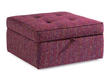 fabric ottoman storage flexsteel living room fabric square storage ottoman 7408