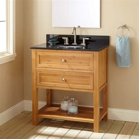 narrow bathroom sink vanity 30 quot narrow depth taren bamboo vanity for undermount sink