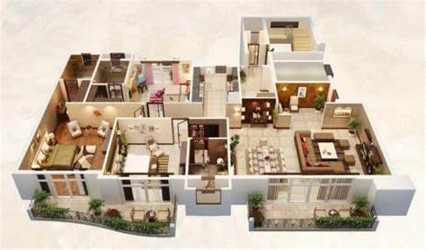 house plans with big bedrooms 25 three bedroom house apartment floor plans