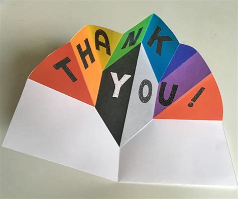 how to make pop up thank you cards expanding pop up make a thank you card or note which