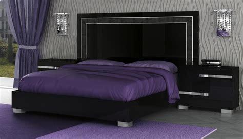 modern black bedroom furniture volare king size modern black bedroom set 5pc made in
