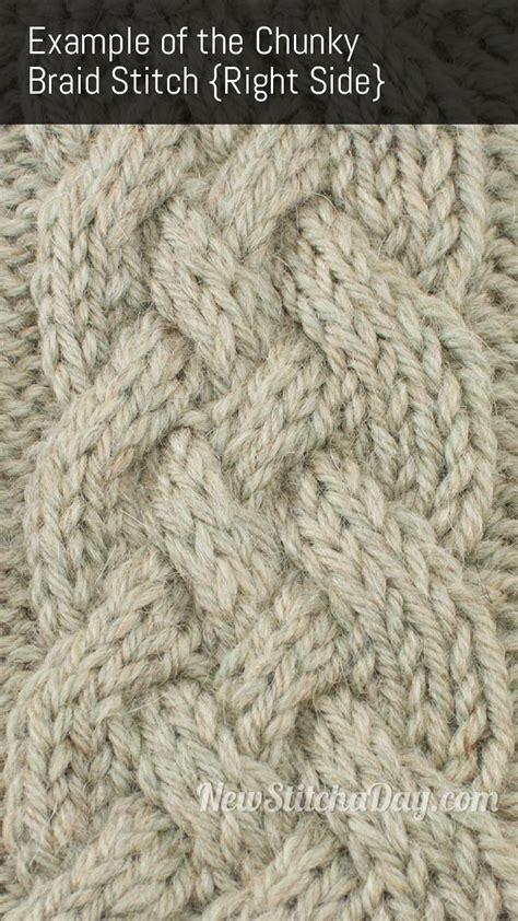 rs knitting chunky braid cable knitting stitch new stitch a day