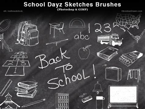 chalk paint photoshop school dayz sketches photoshop and gimp brushes by