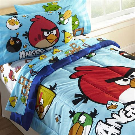 new 4pc angry birds bedding set bird pig