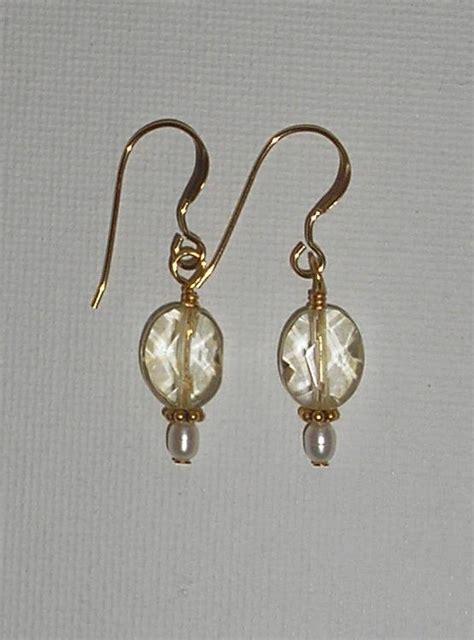 how to make jewelry earrings jewelry citrine bead earrings