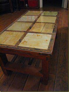 decoupage laminate furniture coffee table redo renewed with flair the