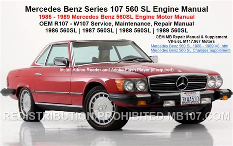 service repair manual free download 1989 mercedes benz e class lane departure warning mercedes benz 107 engine repair motor service manuals