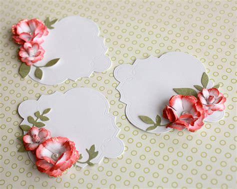 embellishments for card floral journalling tag embellishment