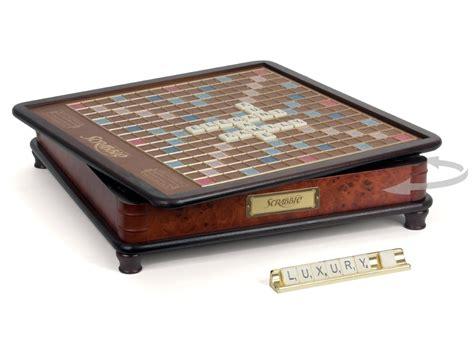 luxury scrabble board scrabble luxury edition board ebay