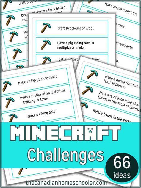 card challenges minecraft challenge cards