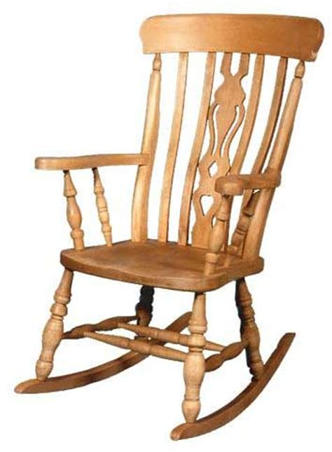 beech fiddle back rocking chair