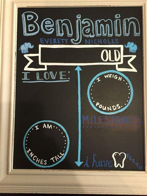 diy chalkboard milestone 10 best ideas about monthly baby chalkboard on