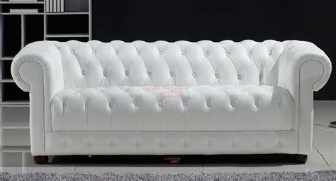 photos canap 233 chesterfield convertible cuir blanc