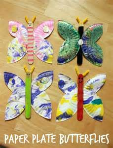 butterfly paper plate craft paper plate butterflies arts and crafts