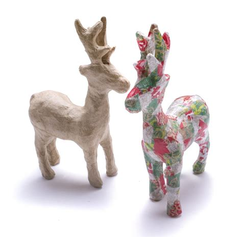 paper mache reindeer craft decopatch paper mache reindeer decopatch and paper mache