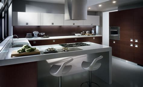small modern kitchen cabinets d 15 fotos de cocinas integrales modernas color chocolate