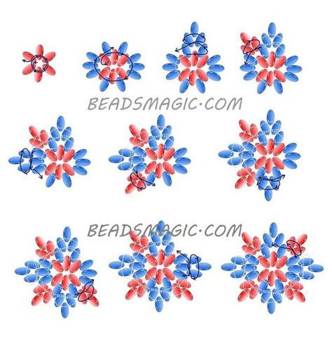 superduo bead patterns dell orefice duo and free pattern on