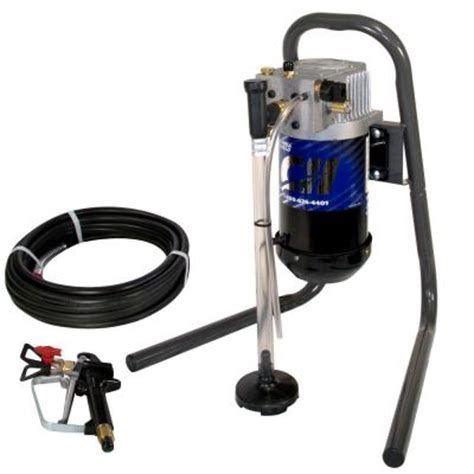 home depot paint sprayer hose cbell hausfeld 1 2 hp 28 gpm stand mount airless