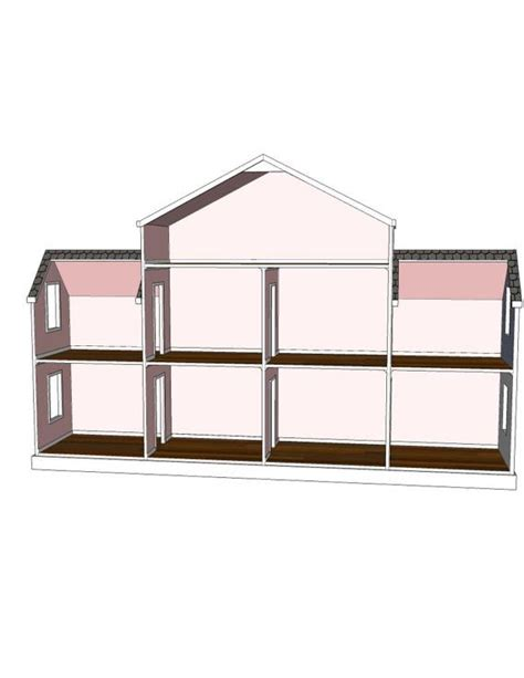 18 inch doll house plans free doll house plans 9 room option for american or 18