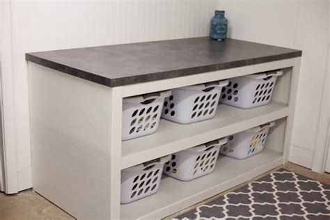 laundry room table with storage laundry room office space reveal laundry rooms laundry