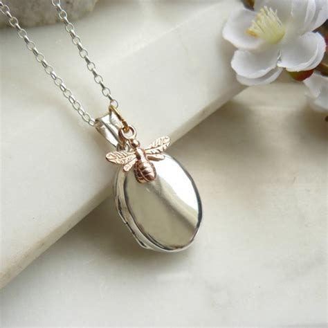 lockets for jewelry bee silver locket necklace
