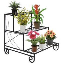 garden flower stands 3 tier metal plant stand decorative planter holder flower