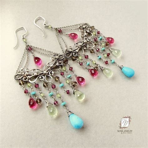 custom make jewelry handmade large chandelier earrings sterling silver and