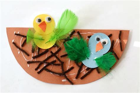 bird craft for crafts for nest and baby bird craft buggy