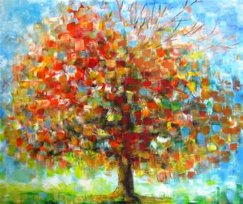 acrylic painting a tree pin by kasey seltner on l0ve