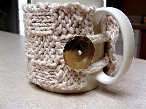 mug cosy knitting pattern free mug cozy pattern twisted fibers designs
