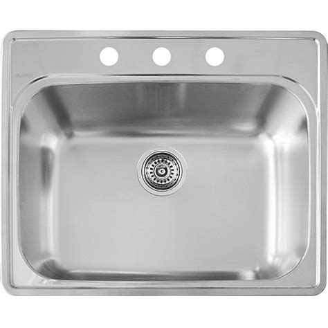 quot essential quot single kitchen sink rona