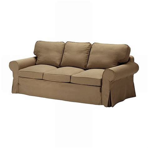 ikea slipcover sofa ikea ektorp 3 seat sofa slipcover cover idemo light brown
