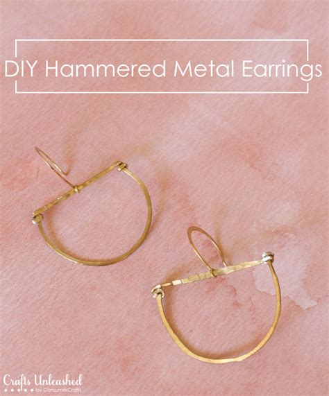 how to make hammered jewelry earrings diy tutorial hammered metal crafts unleashed
