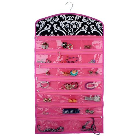 how to make a hanging jewelry organizer hanging jewelry organizer 40 pockets zippered earrings
