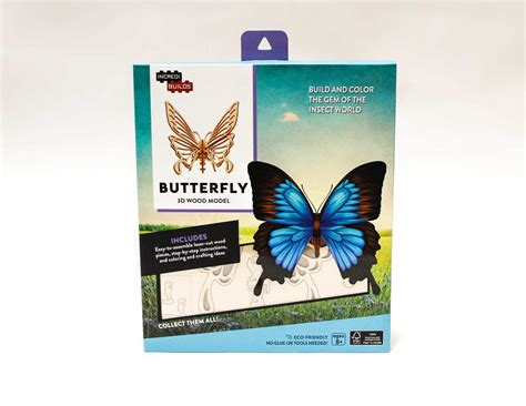 butterfly picture books incredibuilds butterfly 3d wood model book by insight