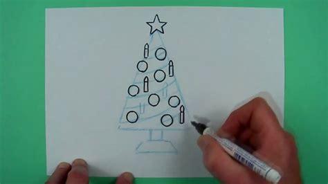 weihnachtsbaum zeichnen wie malt einen supereinfachen weihnachtsbaum