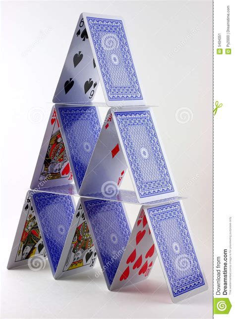 how to make house of cards card house stock image image 5404051