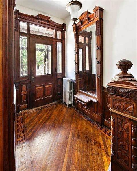 woodwork bk new york brownstone foyer woodwork