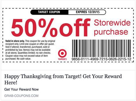 discount code no target is not giving you a 50 everything coupon
