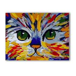 enamel acrylic paint on canvas acrylic diy painted tiger paint by number kit painting on