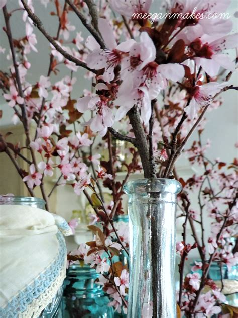 decorating with cherry blossoms jars what meegan makes