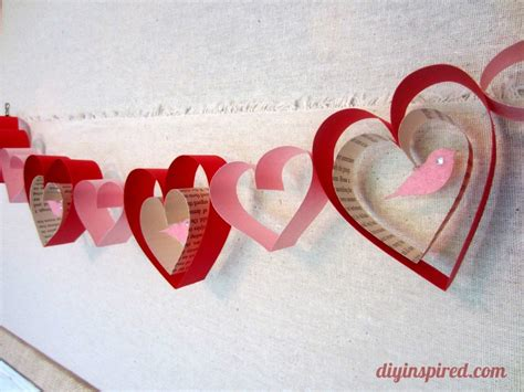 valentines day craft ideas for valentines day craft diy garland diy inspired