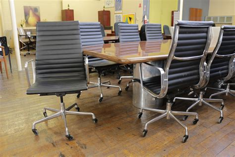 Eames Aluminum Executive Chair by Eames Aluminum Black High Back Leather Executive