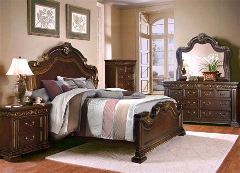 california bedroom furniture antique style 4 pc california king bedroom set